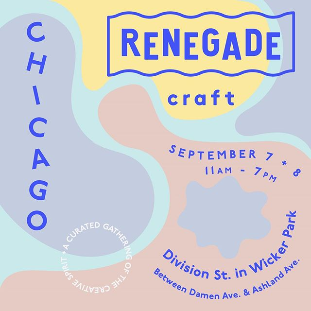 Y'all I have an announcement ✨ I'm doing #renegadecraftfair in Chicago 1 month from now! This is will my first show out of Texas & I could not be more proud, excited & grateful to get to share my art with a new city. If you are wondering where I've been the last month....welp, I've basically been locked up in my studio every spare moment soldering, filing, sawing and hammering away for this event. I found out that I'm sharing a booth with @clarkrendall who creates gorgeous symbolic pattern paintings! Check his work out!! 😊 & if you are in Chicago early September, come visit my booth at @renegadecraft and let's make plans to kick it! (I'll remind y'all closer to the date, of course 😉)