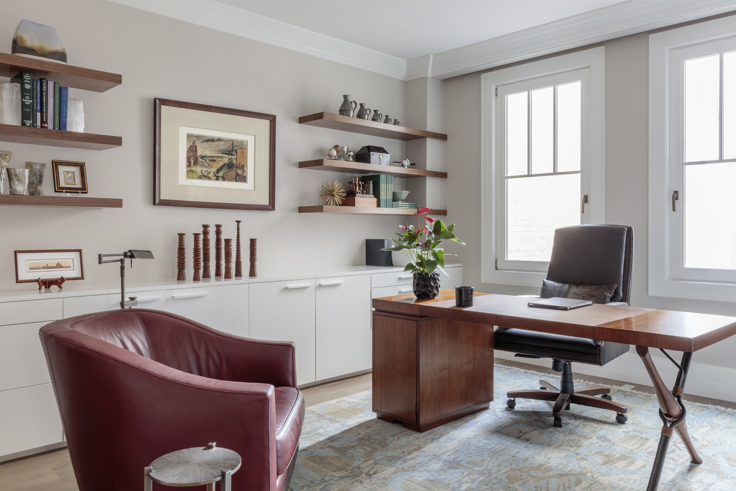 DESIGN415 | San Francisco Pacific Heights Home Office Interior Design