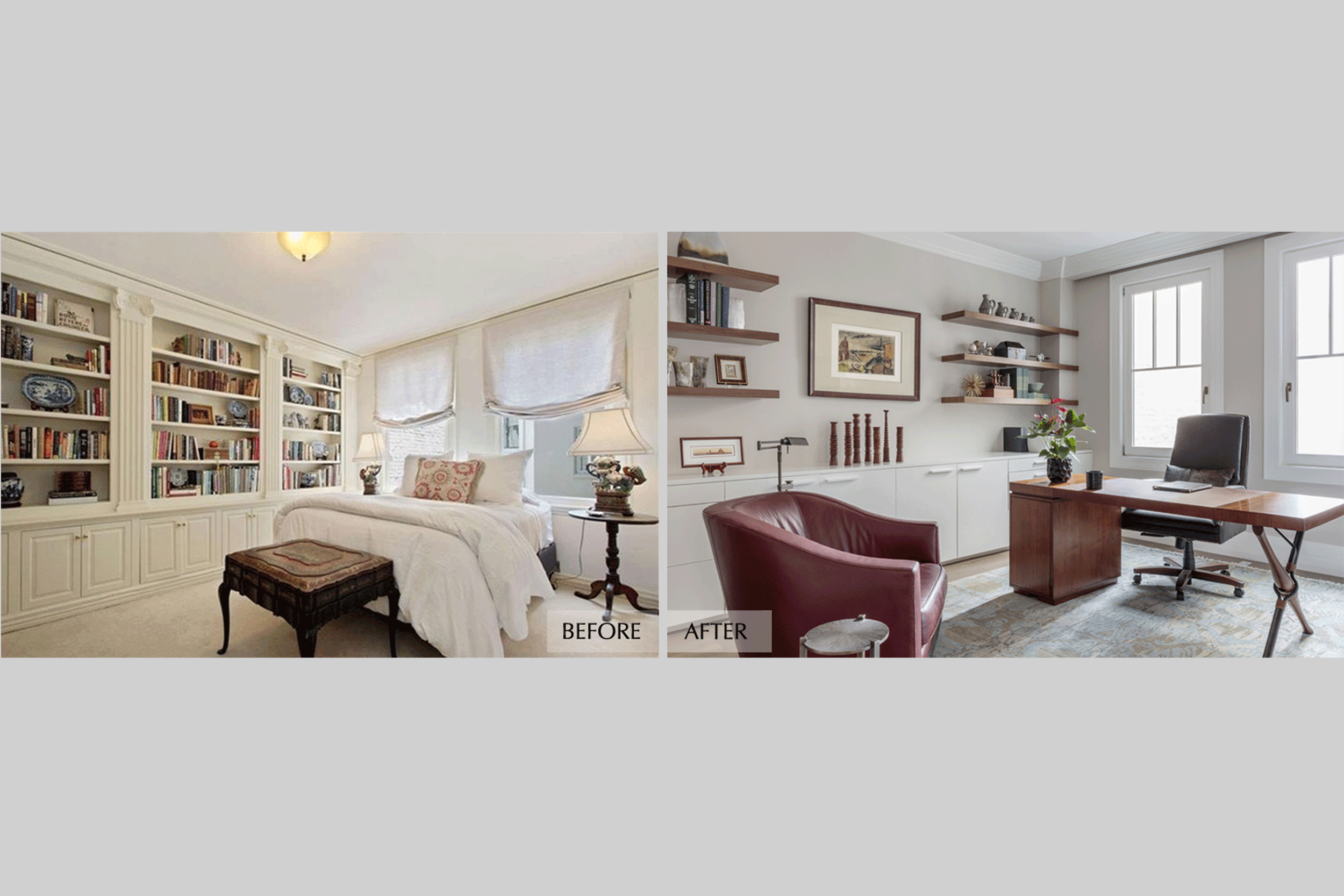 DESIGN415 | San Francisco Pacific Heights Before and After Home Office Remodel