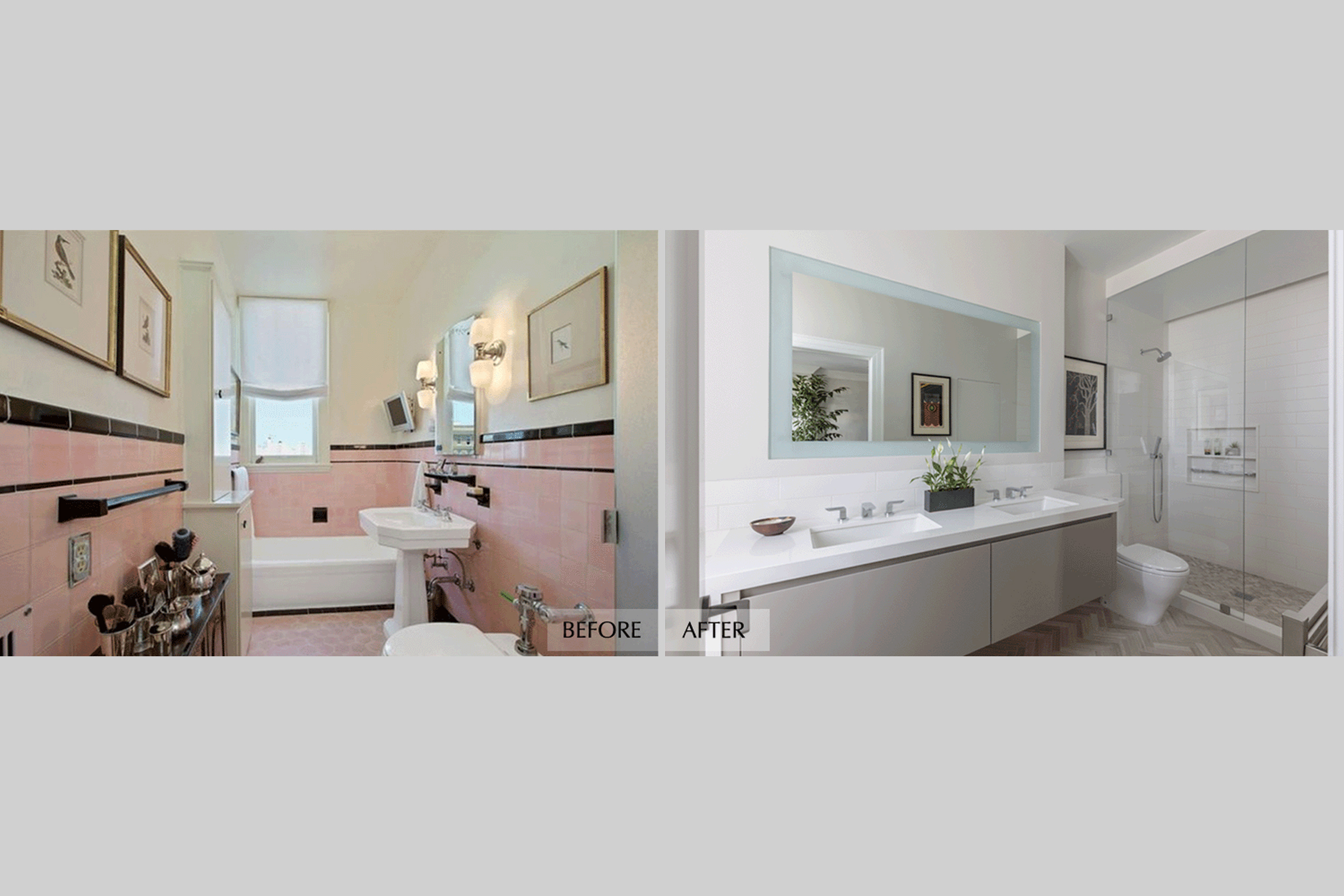 DESIGN415 | San Francisco Pacific Heights Before and After Master Bathroom Remodel