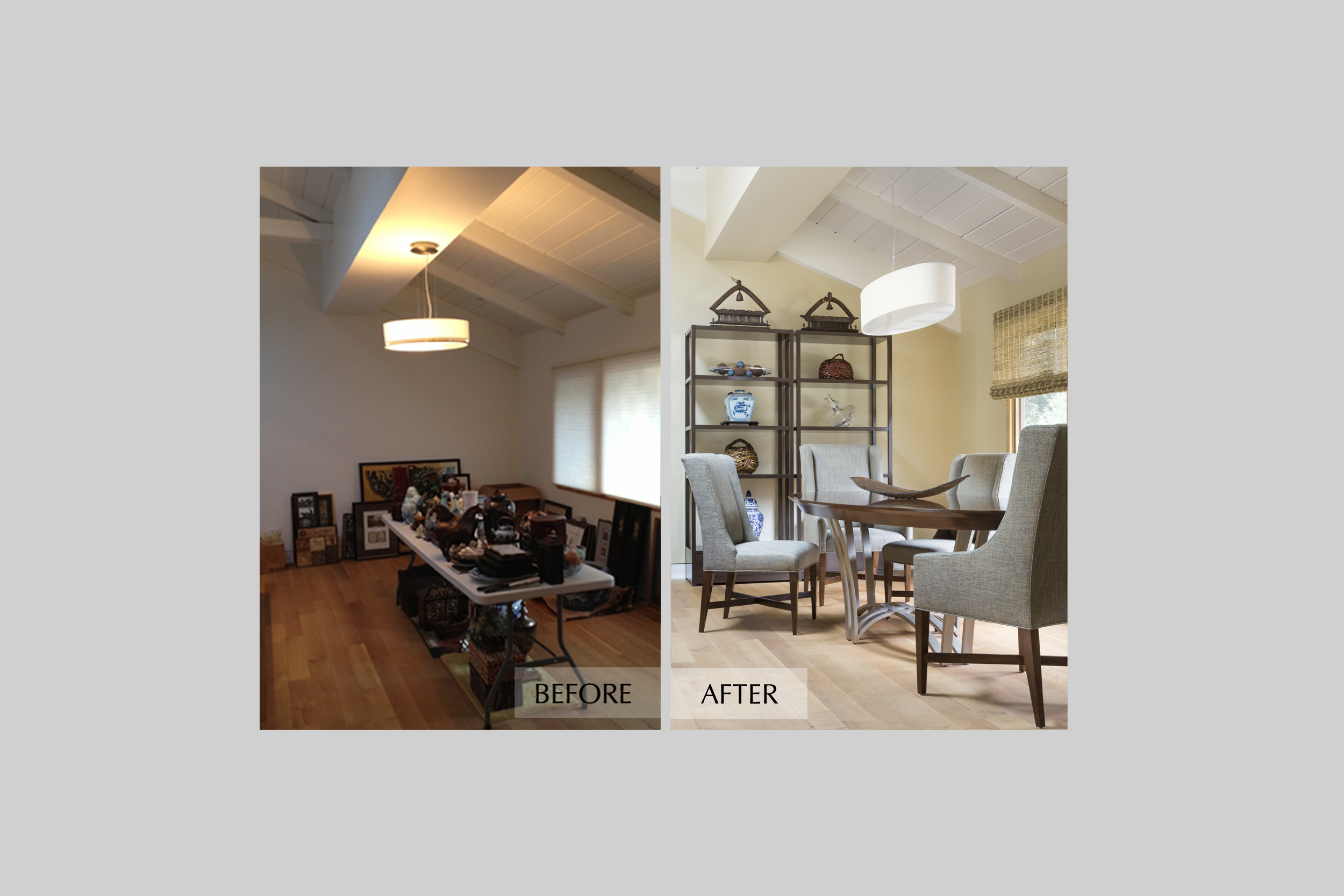 DESIGN415 | Atherton Dining Room Before and After Interior Design and Decorating