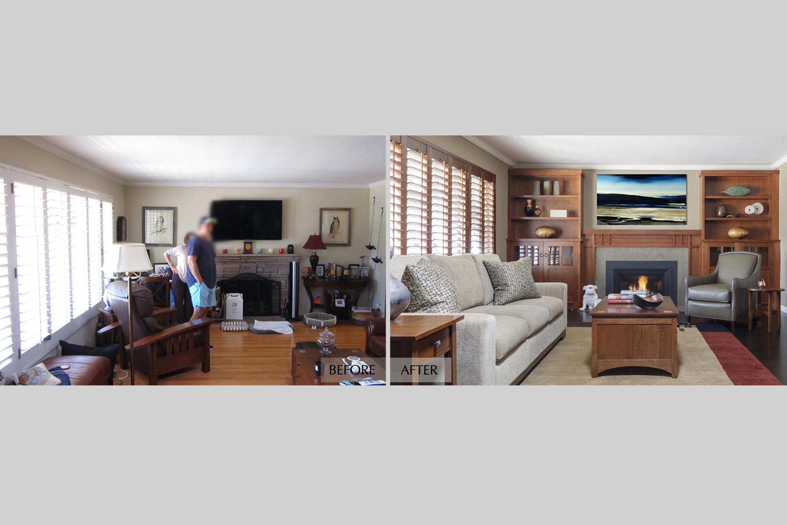 DESIGN415 | Before and After Redwood City Mission Decorating Design