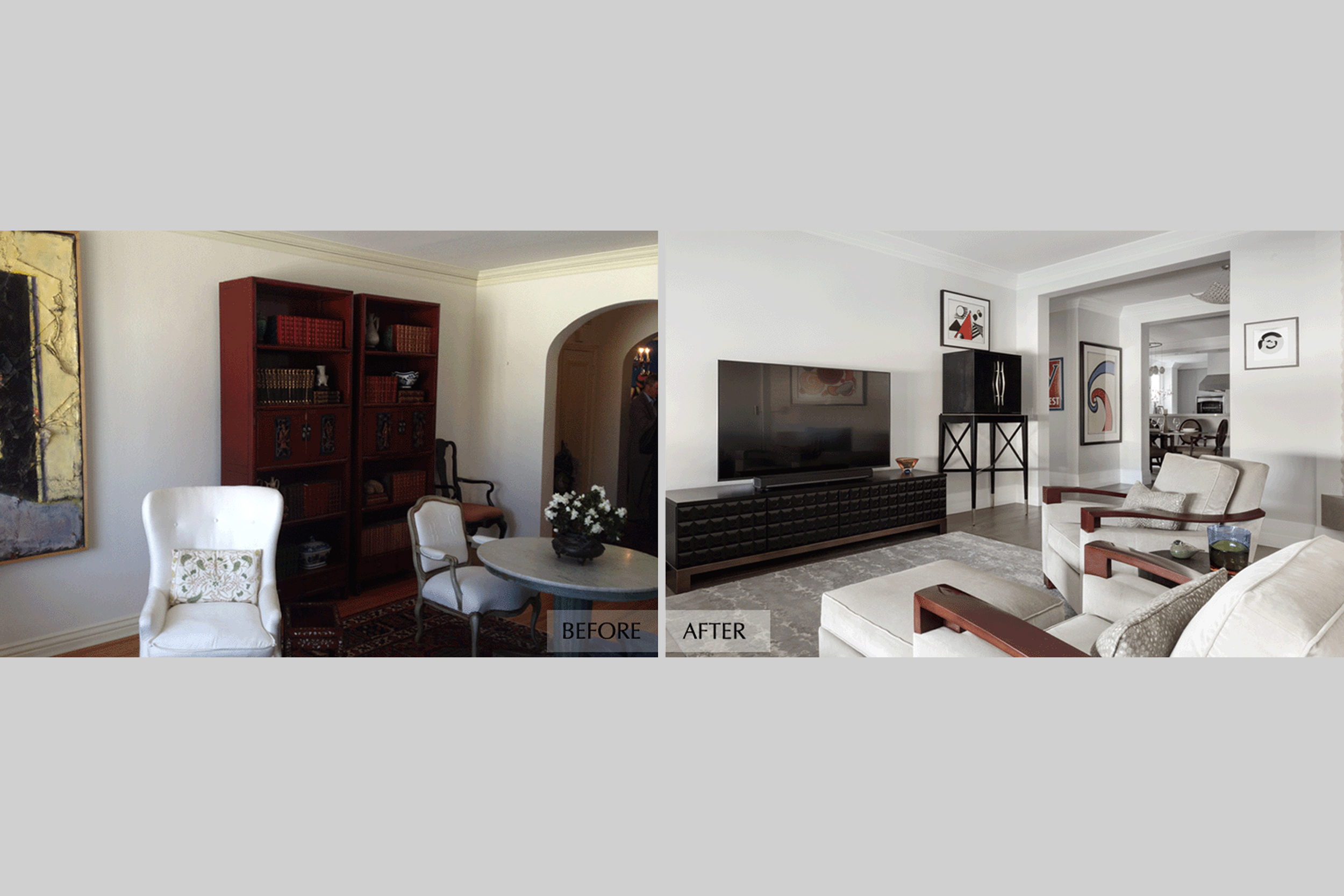 DESIGN415 | Before and After Pacific Heights San Francisco Living Room Remodel and Design