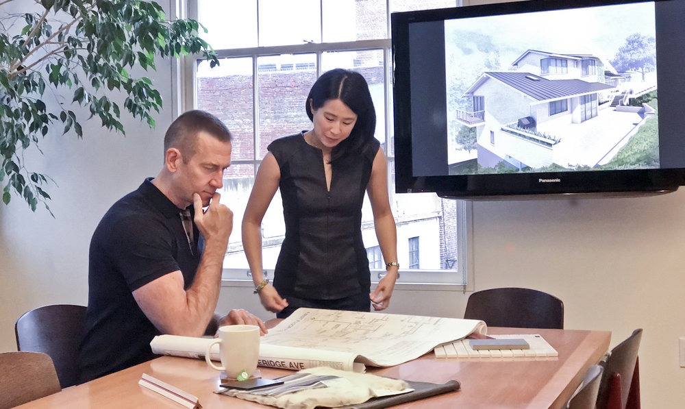 Teri and Al collaborating on interior design projects for over 15 years.