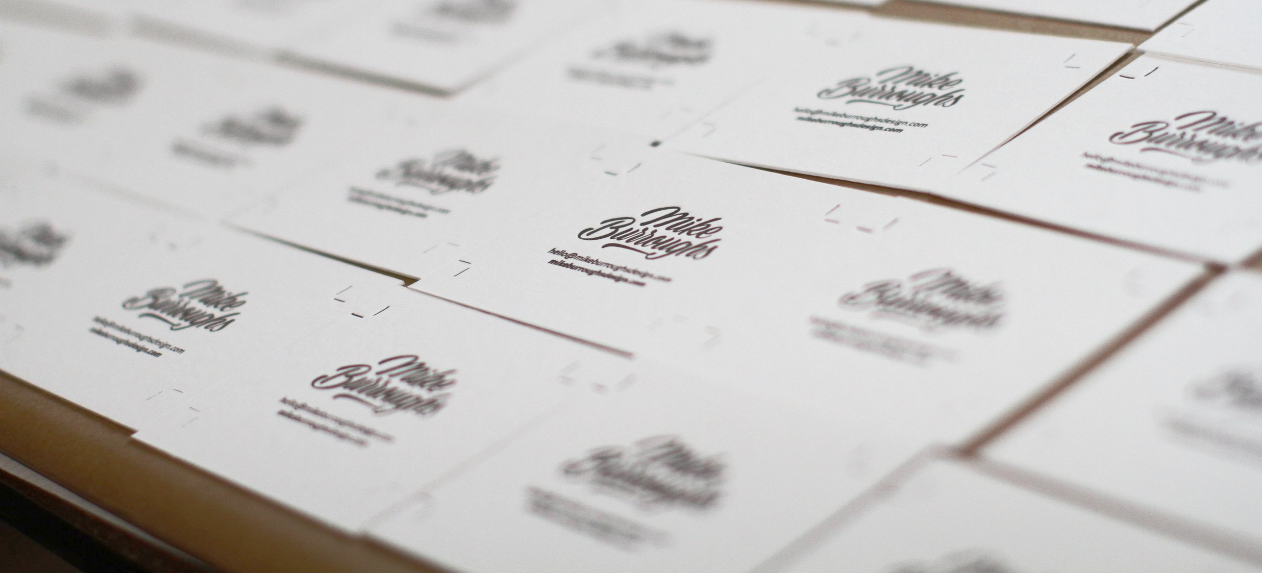 Business Cards for NYC Based Hand Letterer Mike Burroughs