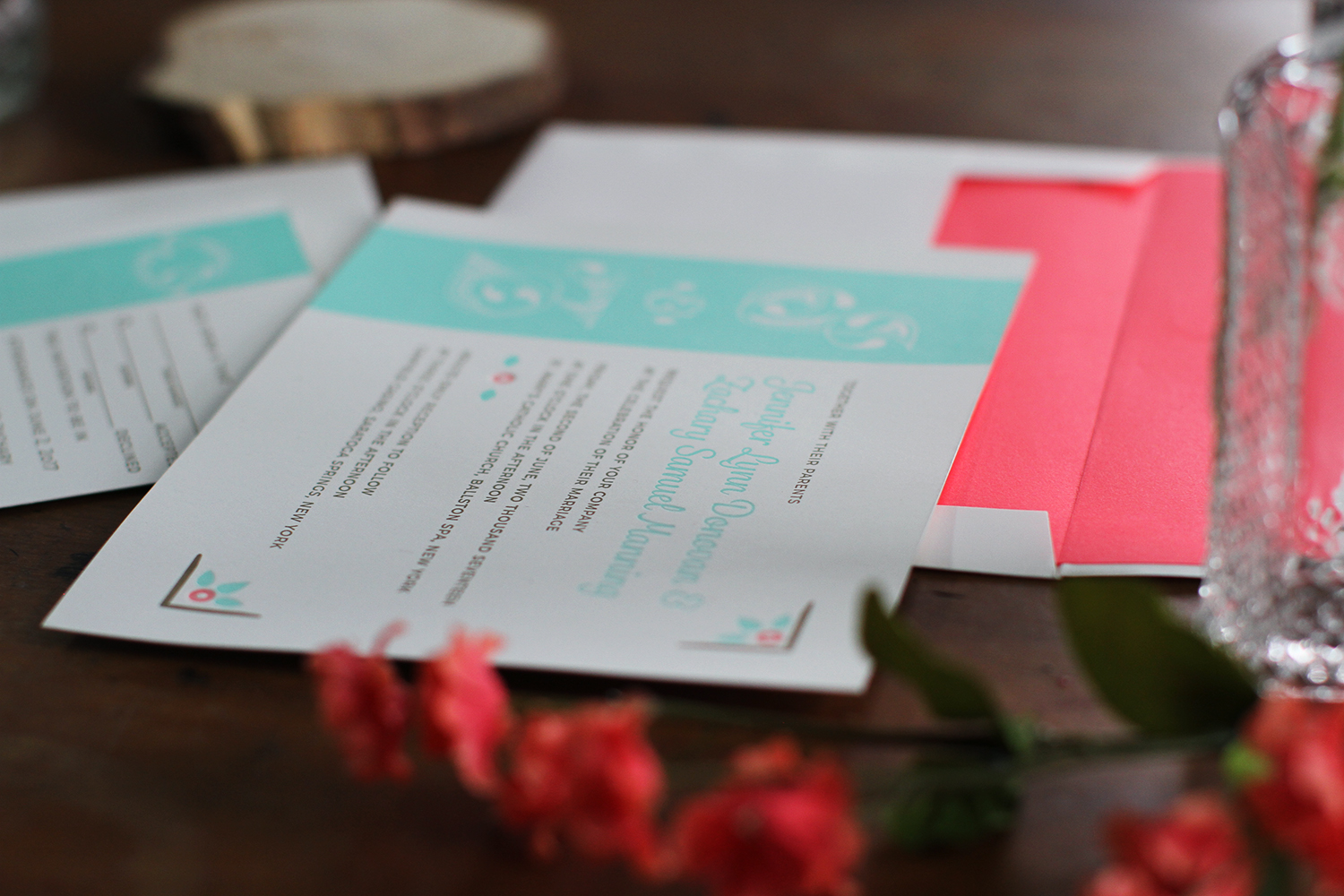 Jennifer and Zachary Wedding Invitations