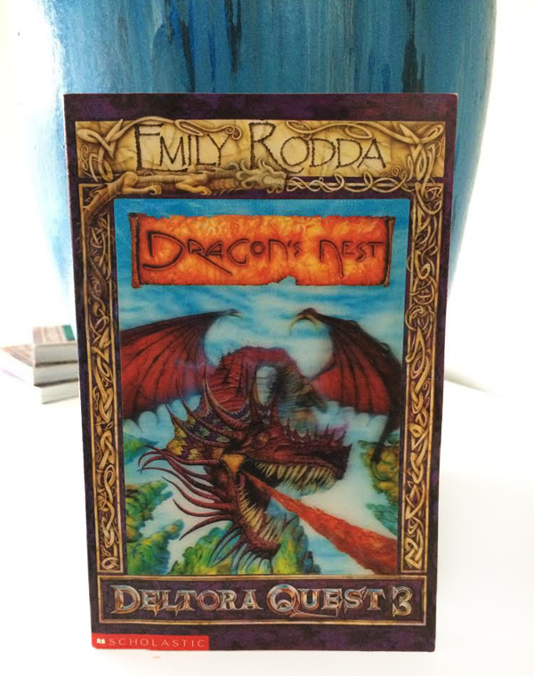 Cover design of Dragon's Nest, part of the third series of books.