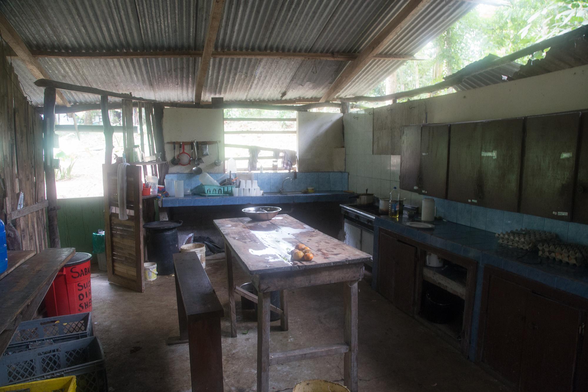 Our kitchen, where twice a week each volunteer helps Sonya prepare meals.