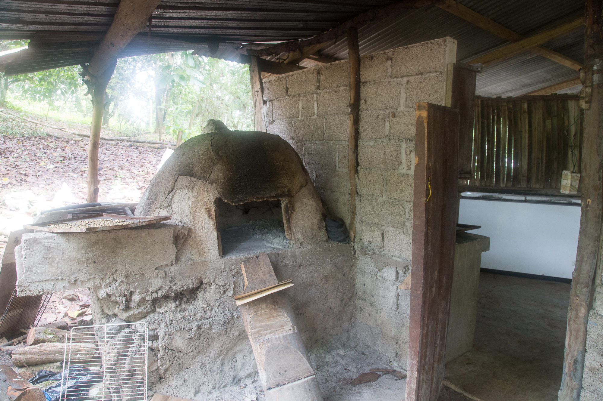 The oven out back.