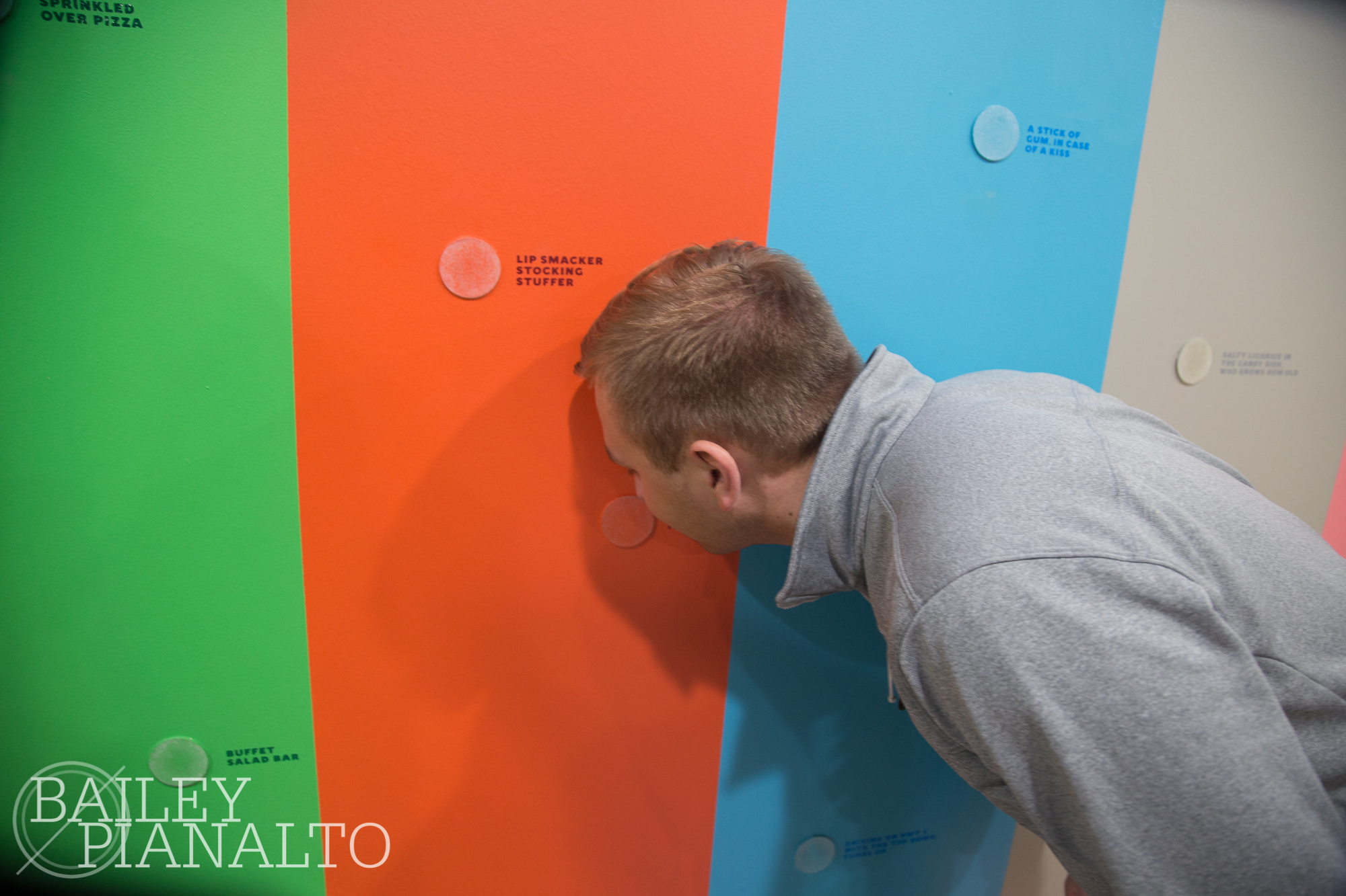 Sniffing on the wall of color
