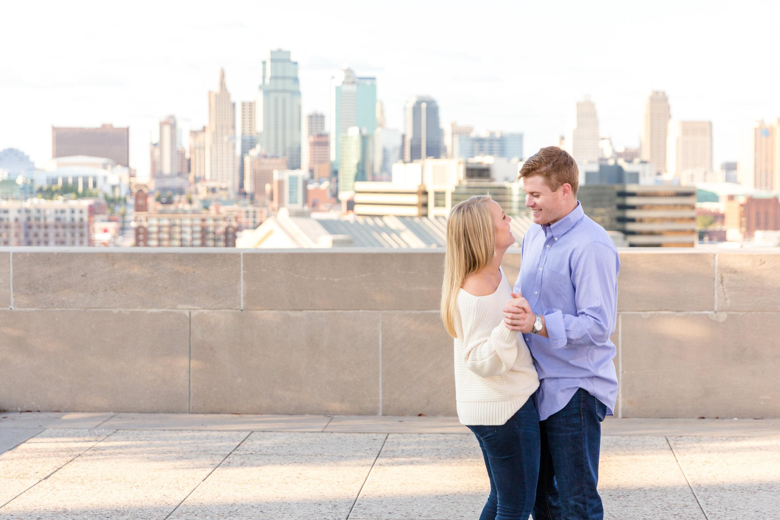 Kat & Drake's Splendid Summertime Engagement | National WWI Museum | Kansas City, MO