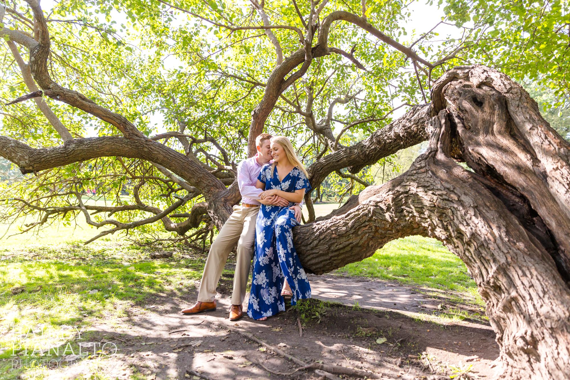 Kat & Drake's Splendid Summertime Engagement | Loose Park | Kansas City, MO