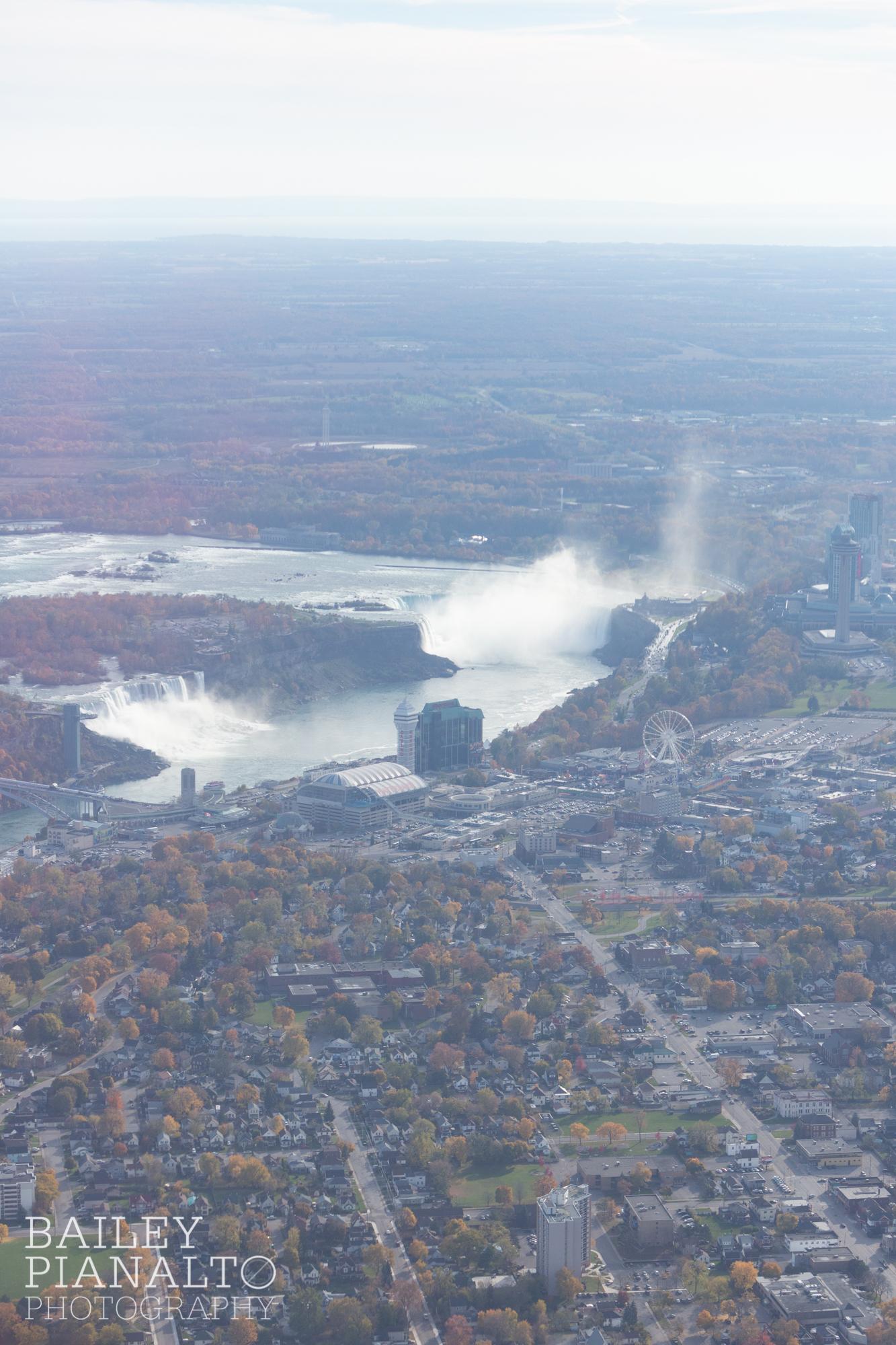 Above Niagara Falls by Helicopter   Niagara Falls, Canada
