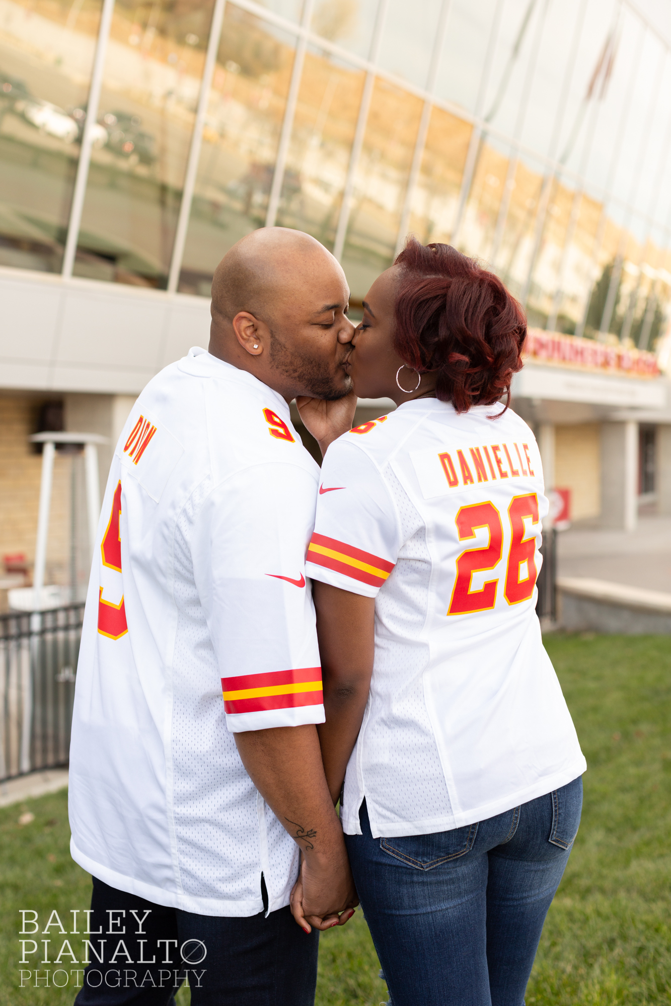 Kansas City Chiefs Inspired Engagement Session