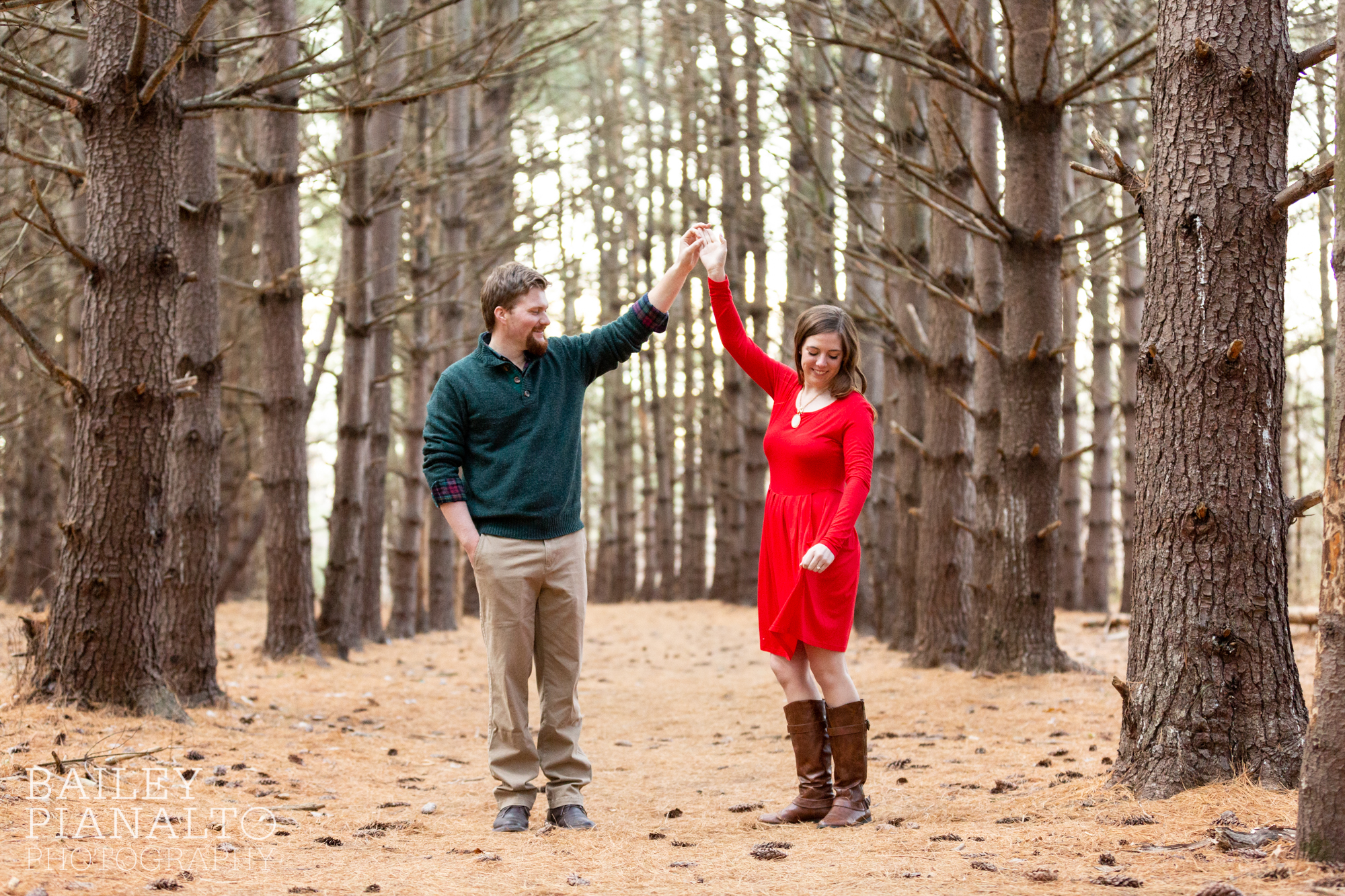 Winter Woods Engagement Session | Kansas City, MO