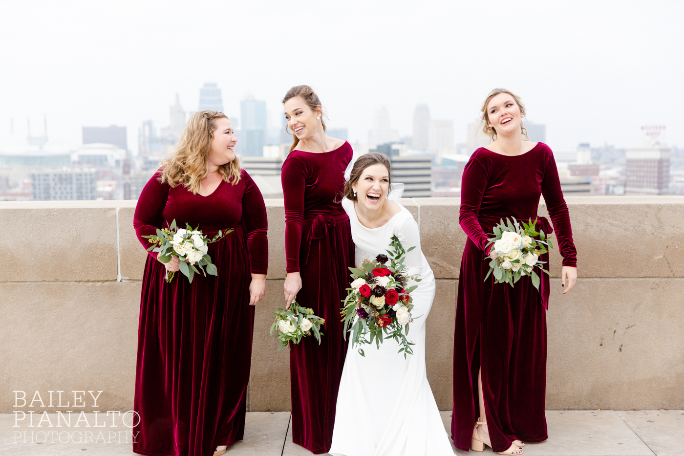Classic Burgundy and Navy Winter Wedding | Kansas City, MO