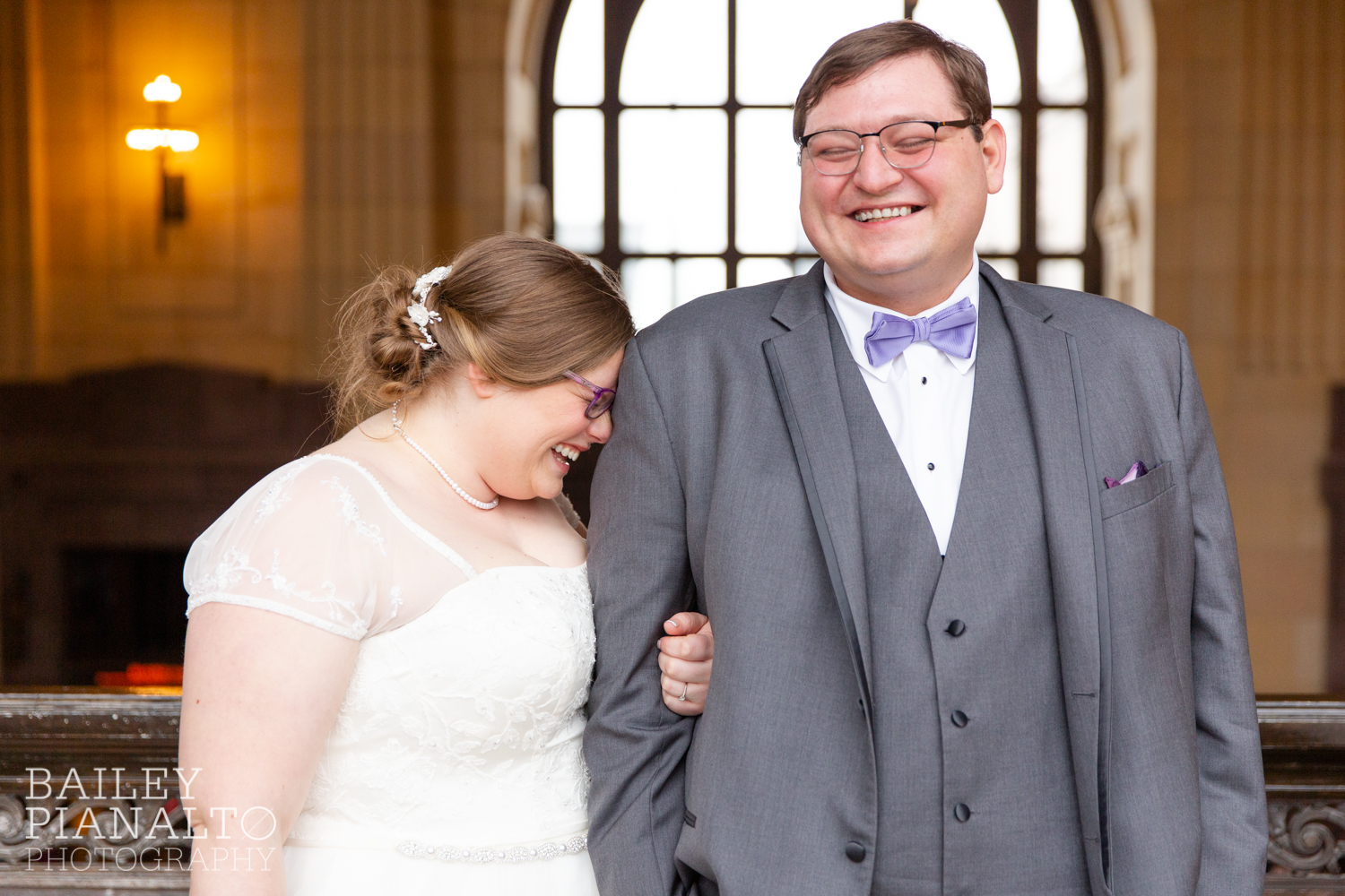 Purple & Gray Down-to-Earth Spring Wedding | Union Station | Kansas City, MO