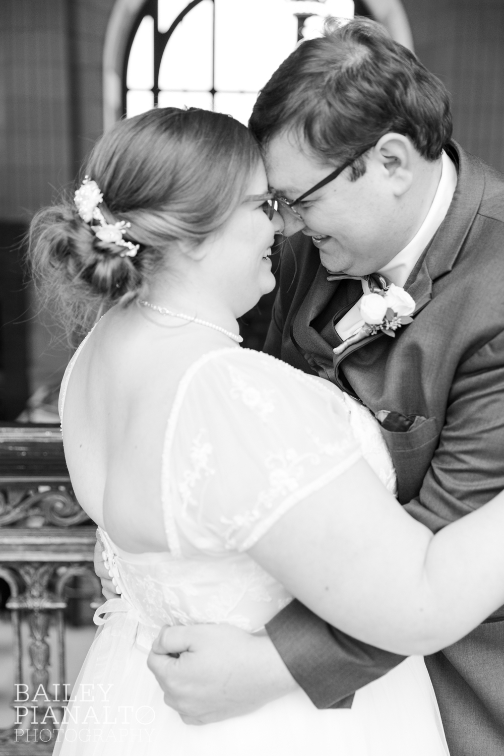 Bride & Groom Portraits at Purple & Gray Down-to-Earth Spring Wedding  | Union Station | Kansas City, MO