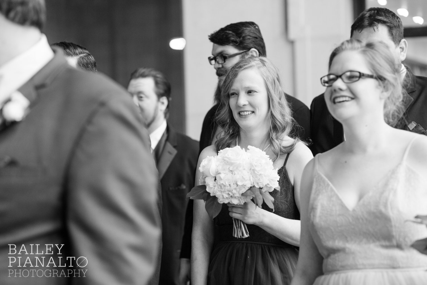 Wedding Party Portraits at Purple & Gray Down-to-Earth Spring Wedding  | Union Station | Kansas City, MO