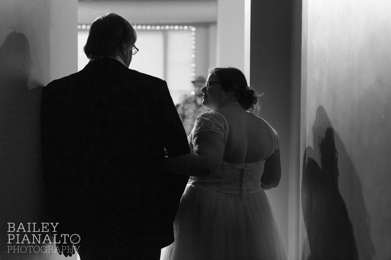 Pre-Ceremony Waiting at Purple & Gray Down-to-Earth Spring Wedding  | Uptown Theater | Kansas City, MO