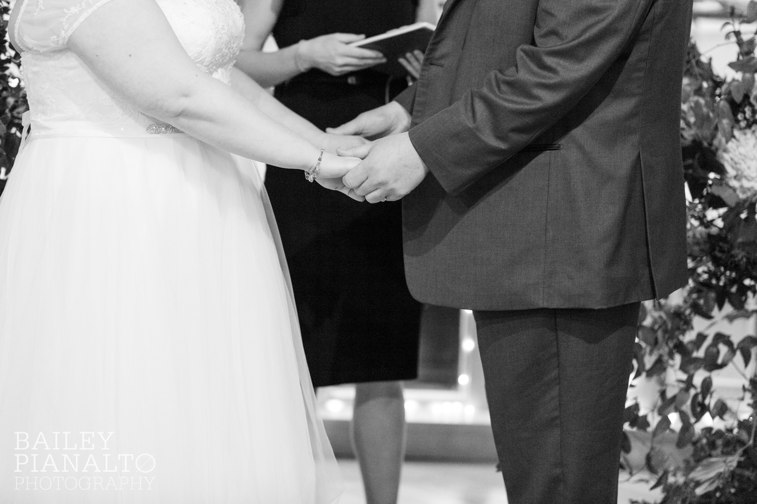 Wedding Ceremony at Purple & Gray Down-to-Earth Spring Wedding  | Uptown Theater | Kansas City, MO