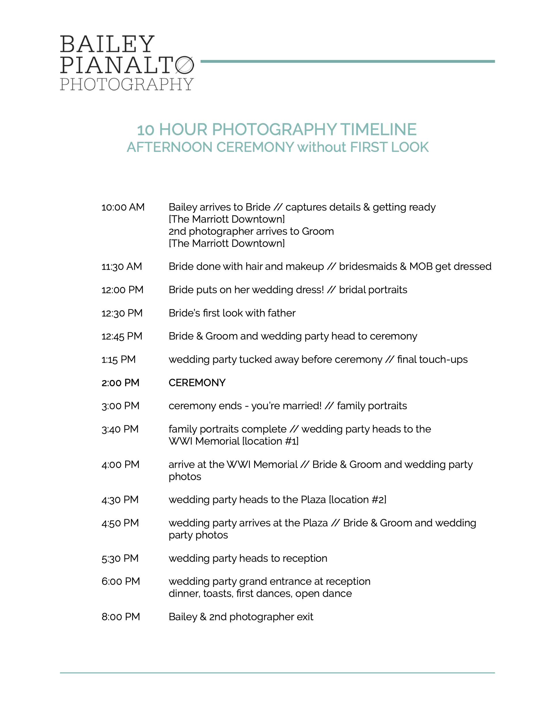Tips and Tricks to Draft Your Perfect Wedding Day Photography Timeline