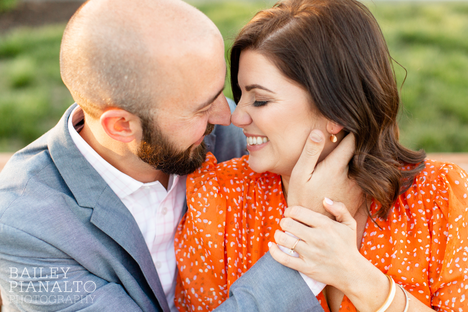 Orange, Pink & Blue Spring Park Sunset Engagement Session Inspiration | Kansas City, MO