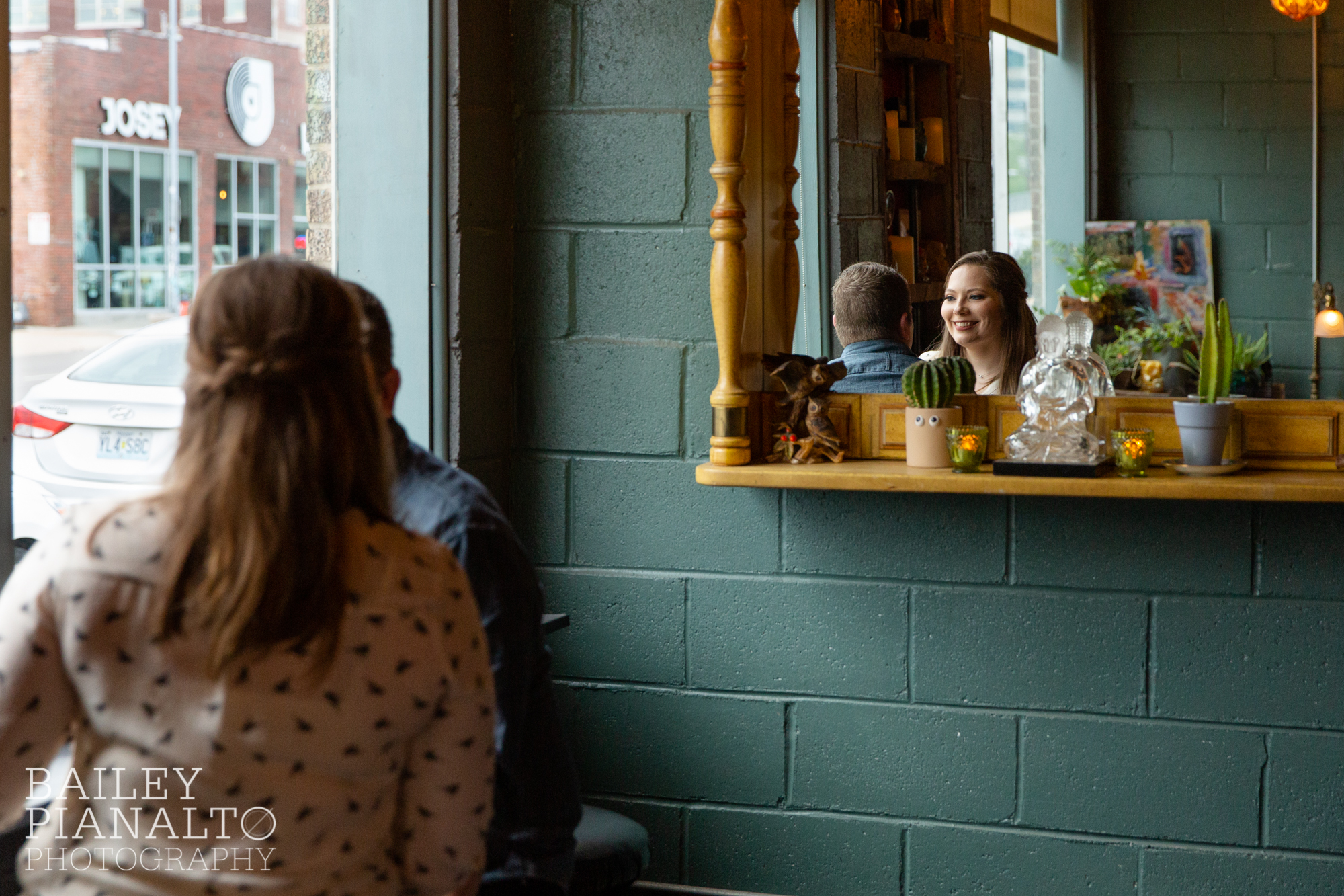 Casual Denim & Cream Brewery Spring Date Night Engagement Session Inspiration | Crossroads Arts District, Kansas City, MO
