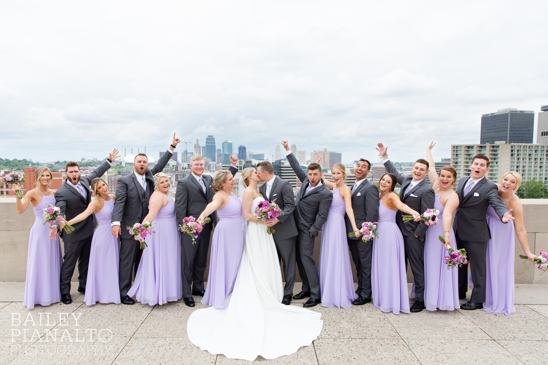 Elegant Lilac & Green Spring Wedding Inspiration at the WWI Memorial with planner - As You Wish KC, gown - Belle Vogue Bridal, flowers - Lily Floral Designs, catholic church ceremony - St. Michael the Archangel, venue - Embassy Suites Olathe |  Kansas City, MO