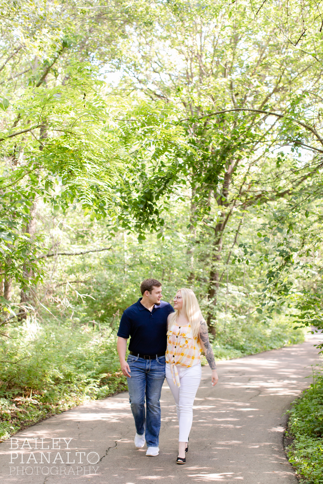 Yellow & Navy Summer Garden Engagement Session Inspiration at the Overland Park Botanical Garden | Kansas City, MO