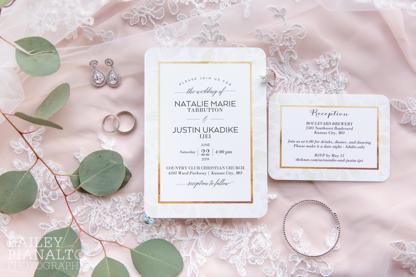 Classic White, Gold & Navy Summertime Wedding Inspiration with Bridal Extraordinaire, Tip Top Tux, Boulevard Brewing Co., and Country Club Christian Church | Kansas City, MO