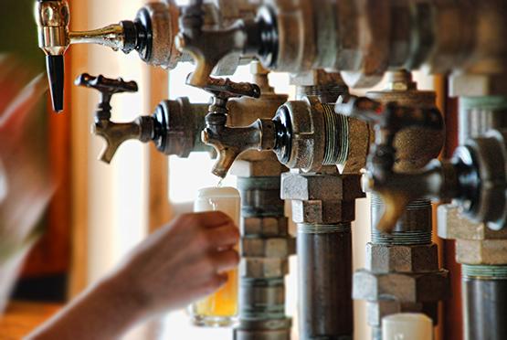 Pouring Beer at Microbrasserie À l'abri de la Tempête - Global Dish - Stephanie Arsenault