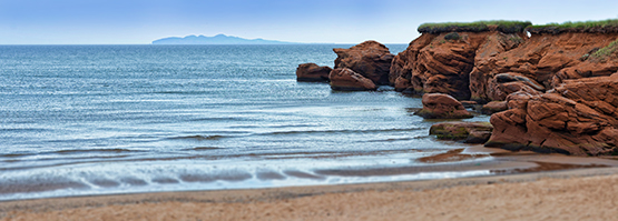 Red Cliffs and the Beach in the Magdalen Islands - Global Dish - Stephanie Arsenault