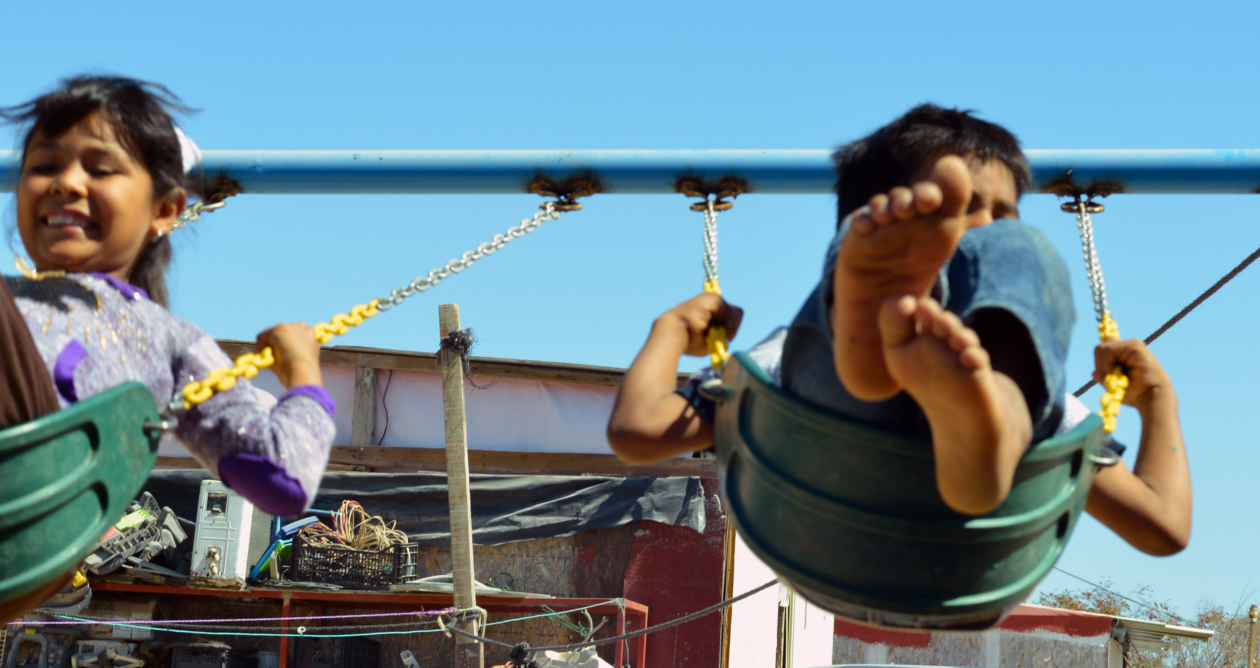 Swinging around at the children's rehab facility - Global Dish - Stephanie Arsenault