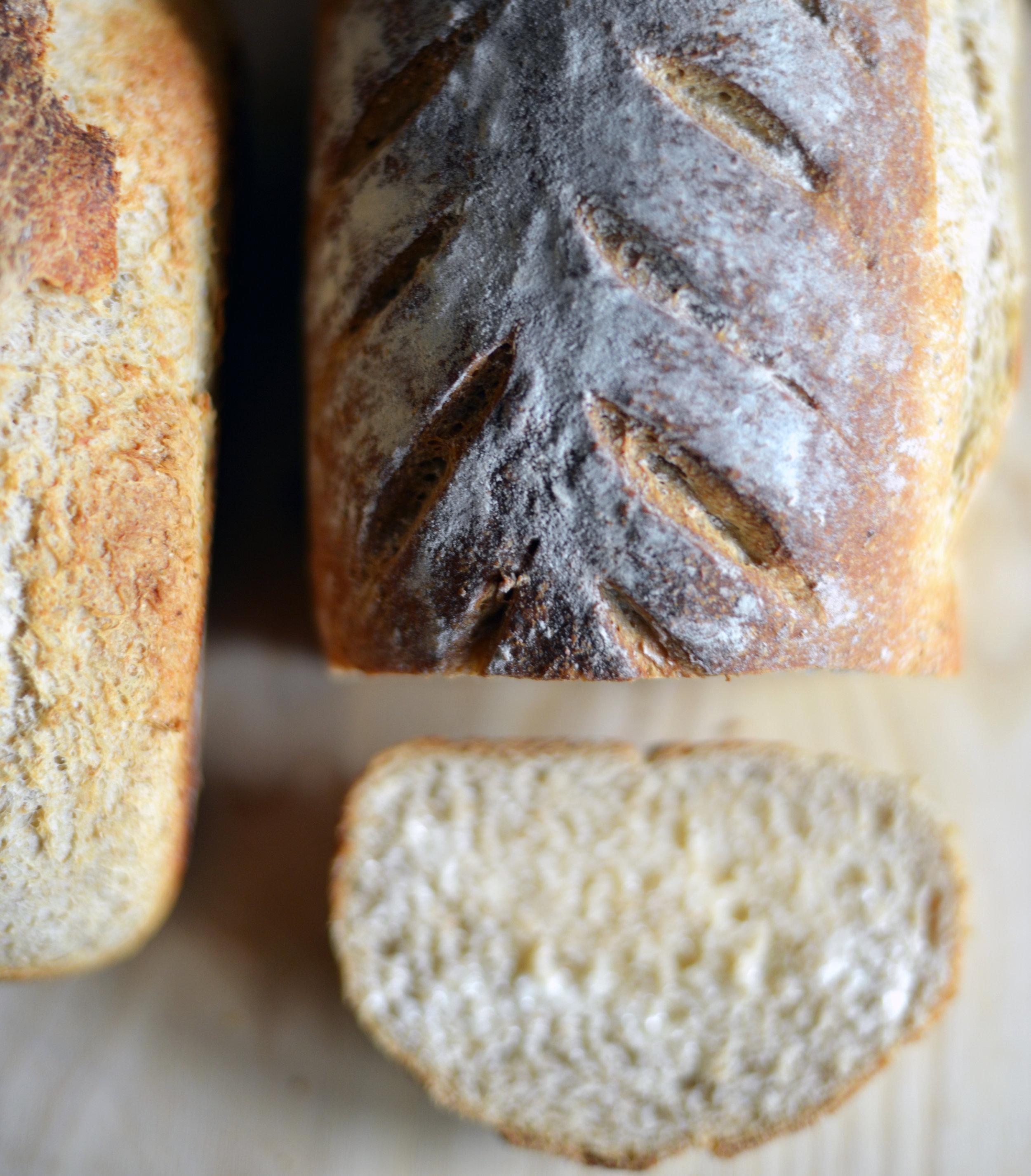 Spelt + Honey Sourdough Bread - Stephanie Arsenault - Global Dish