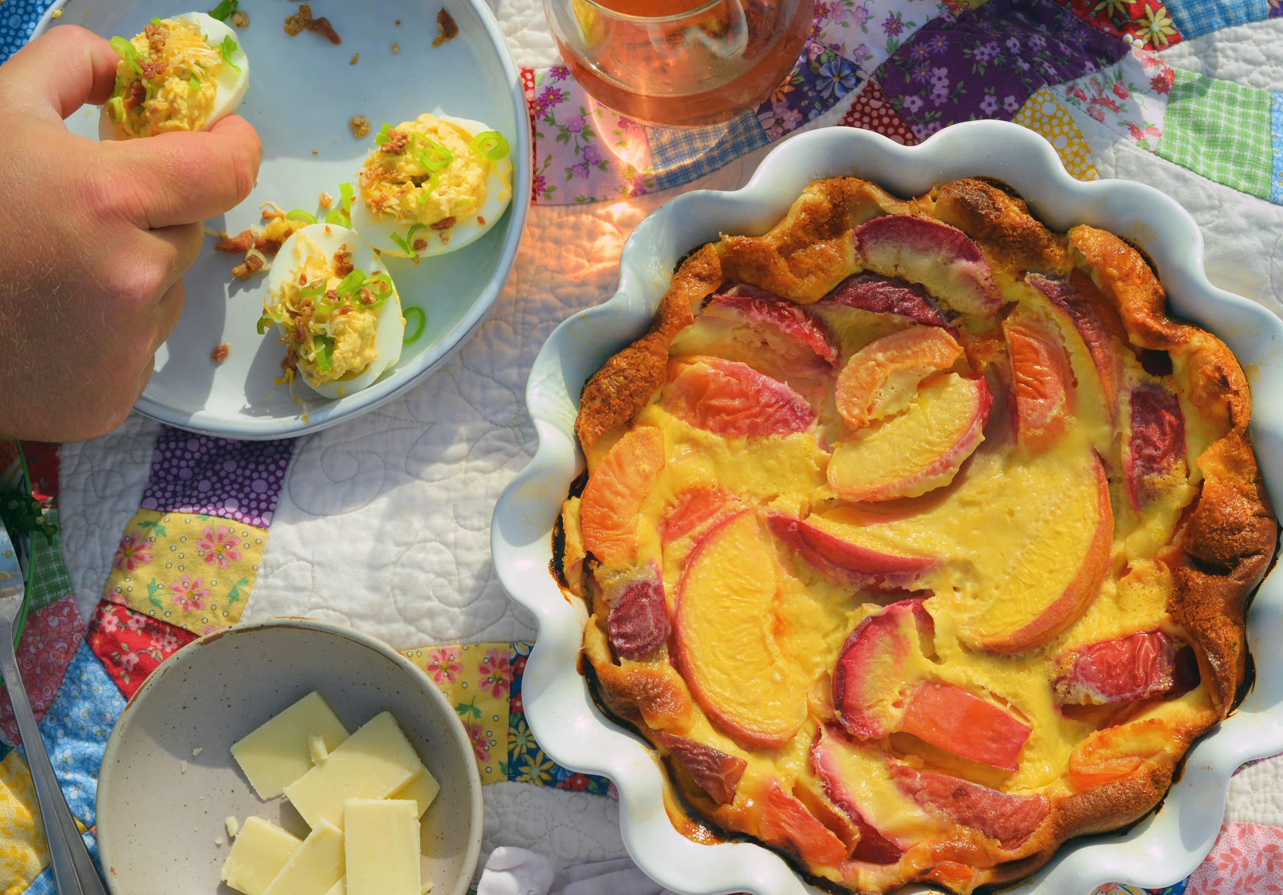 Stone Fruit Clafoutis - Global Dish - Stephanie Arsenault