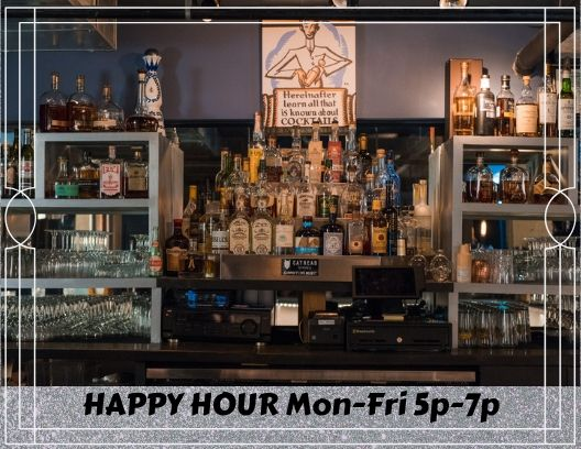 JOIN US FOR HAPPY HOUR IN THE VAULT!! $5 wells, $1 off Beer & Wine, $2 of Specialty Cocktails!!