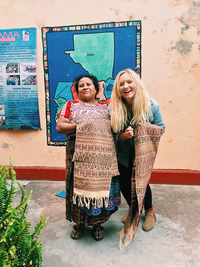 Caption:Emily with artisan partner, Lidia.