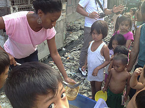Picture: Kristy serving the children of The Philippines during her 11 month mission to 11 countries