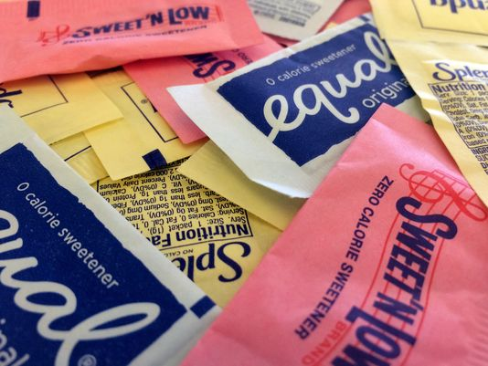A mix of artificial sweeteners, which are all proven to mess up your taste buds, cause disease, and make you gain weight! Photo: USA Today.
