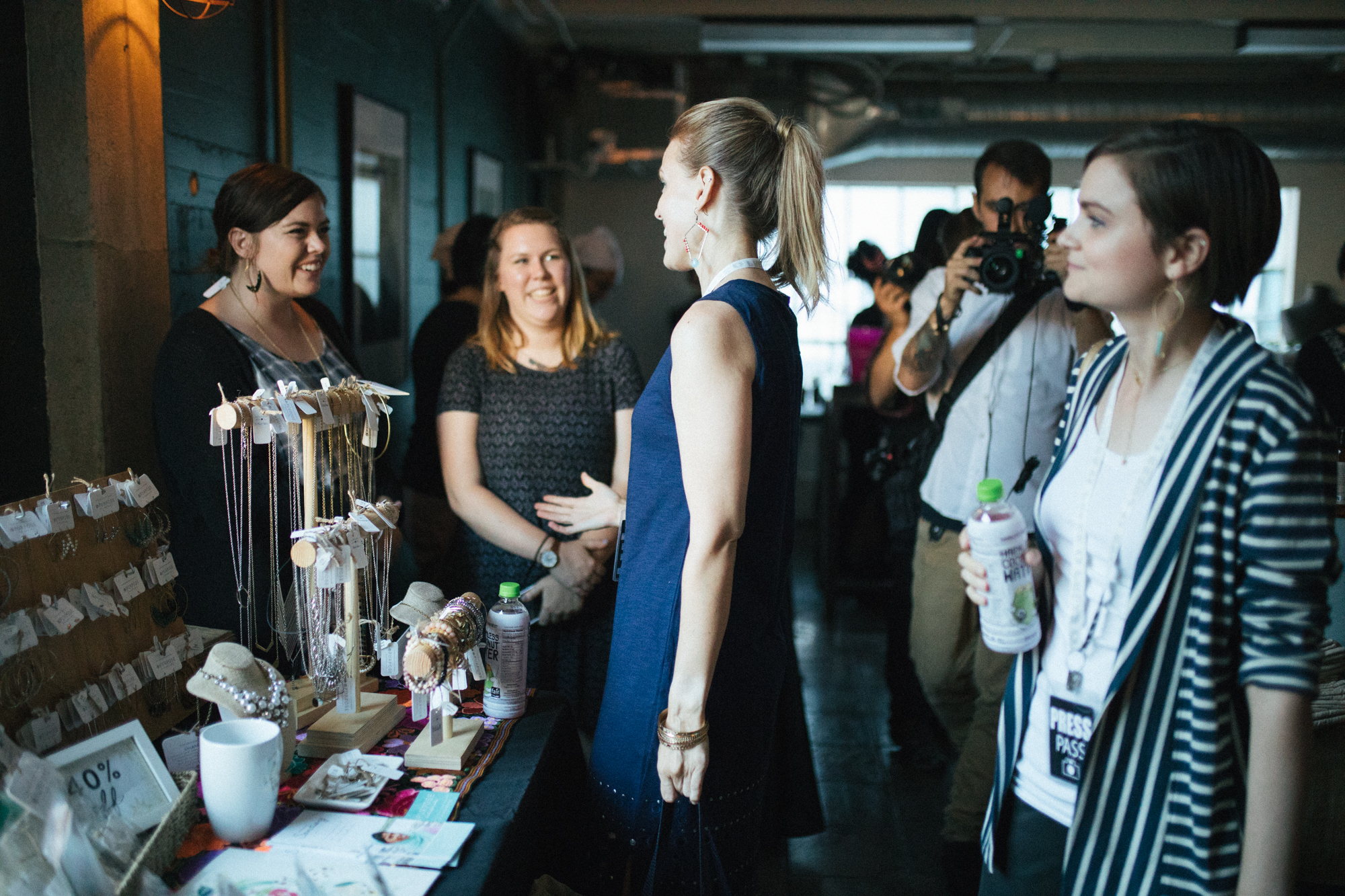 Ashley C and Jessi B, from Purpose Jewelry DISCUSS fashion and freedom with Heather & jennifer. Photo:  CECILY BREEDING