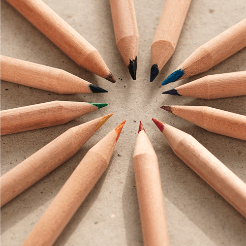 These colored pencils can be planted at the end of their life and grow 1 of 8 different plants! Talk about sustainable.