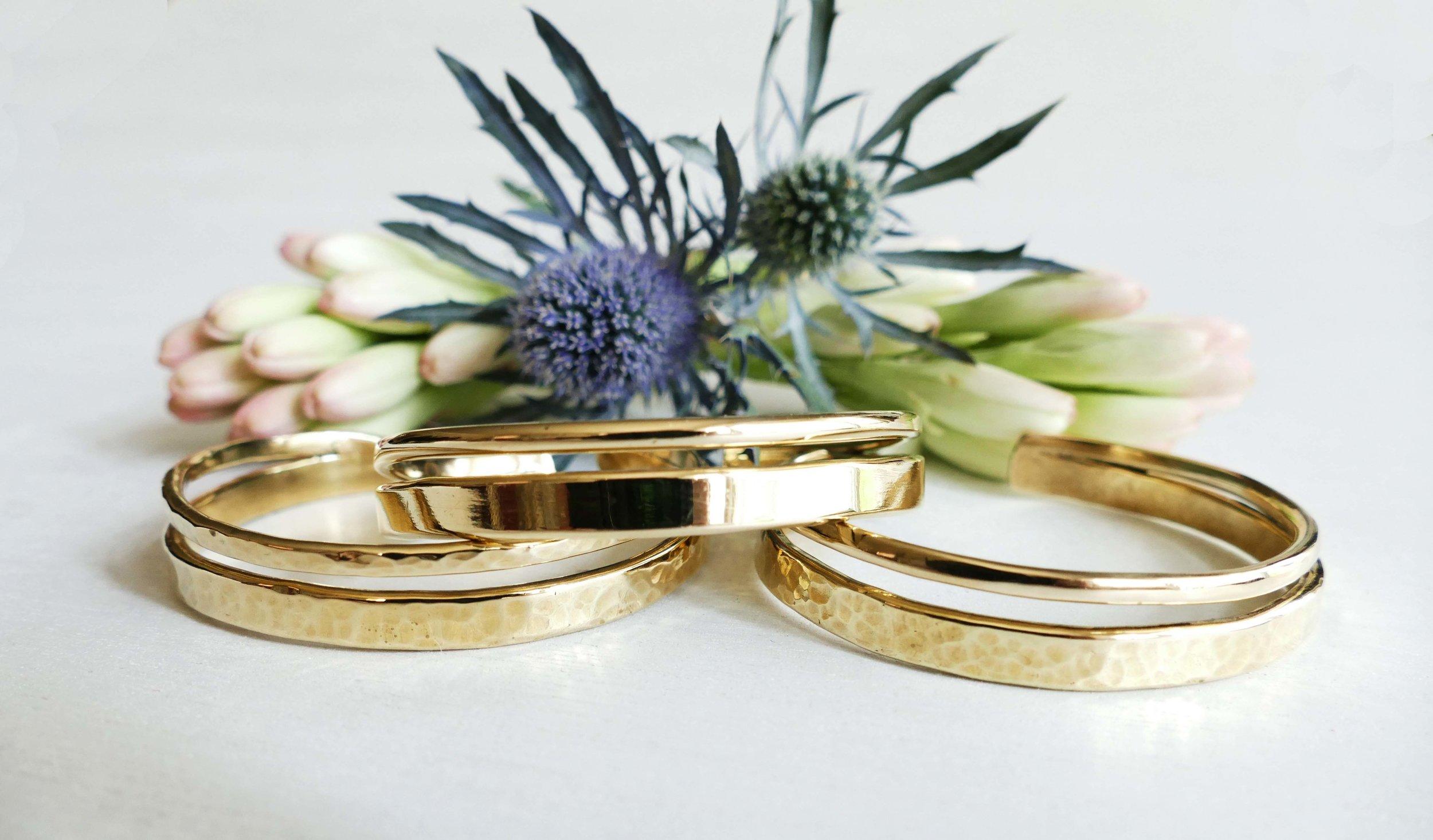 Brass Cuffs from Lucy & Jo