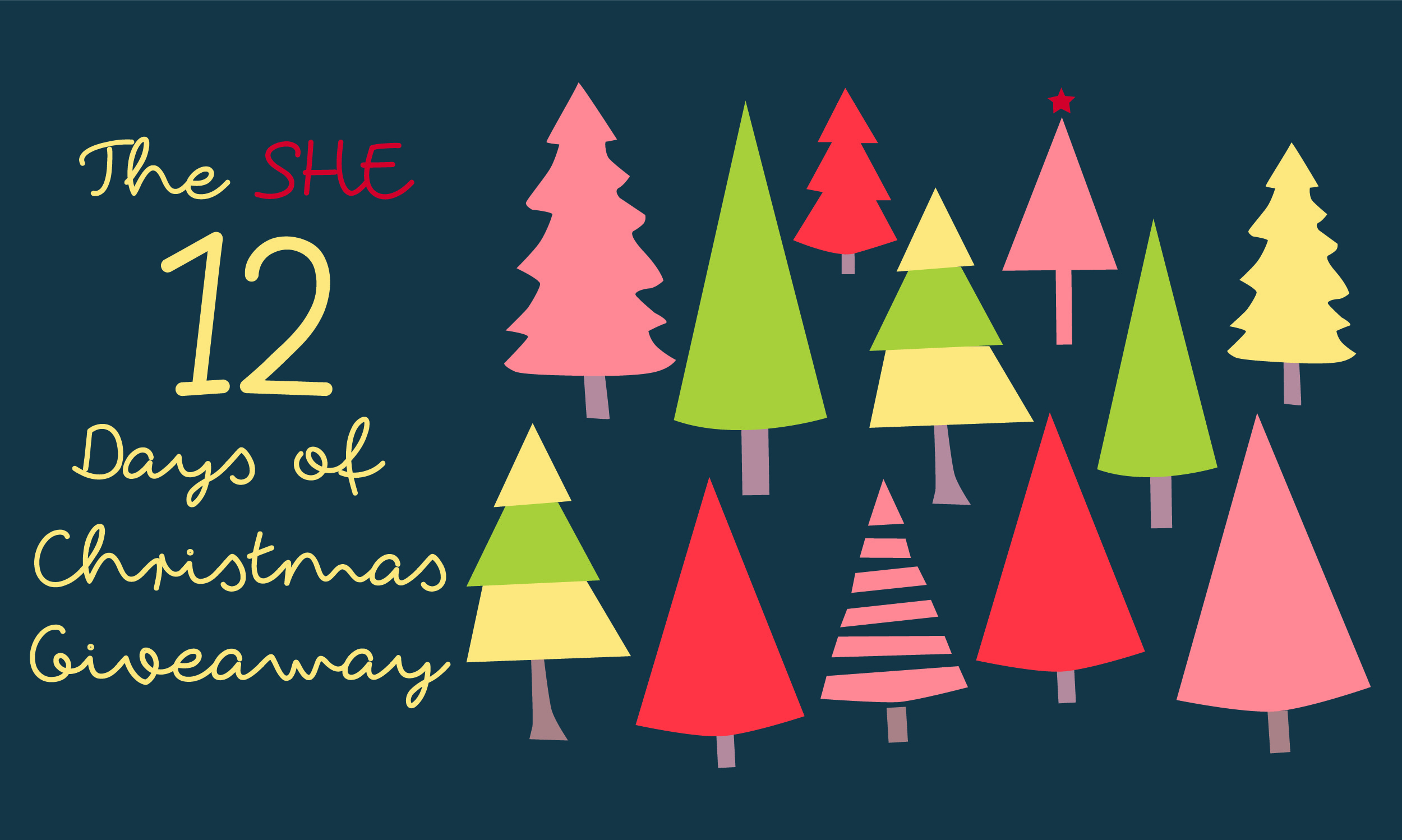 The SHE 12 Days of Christmas Giveaway