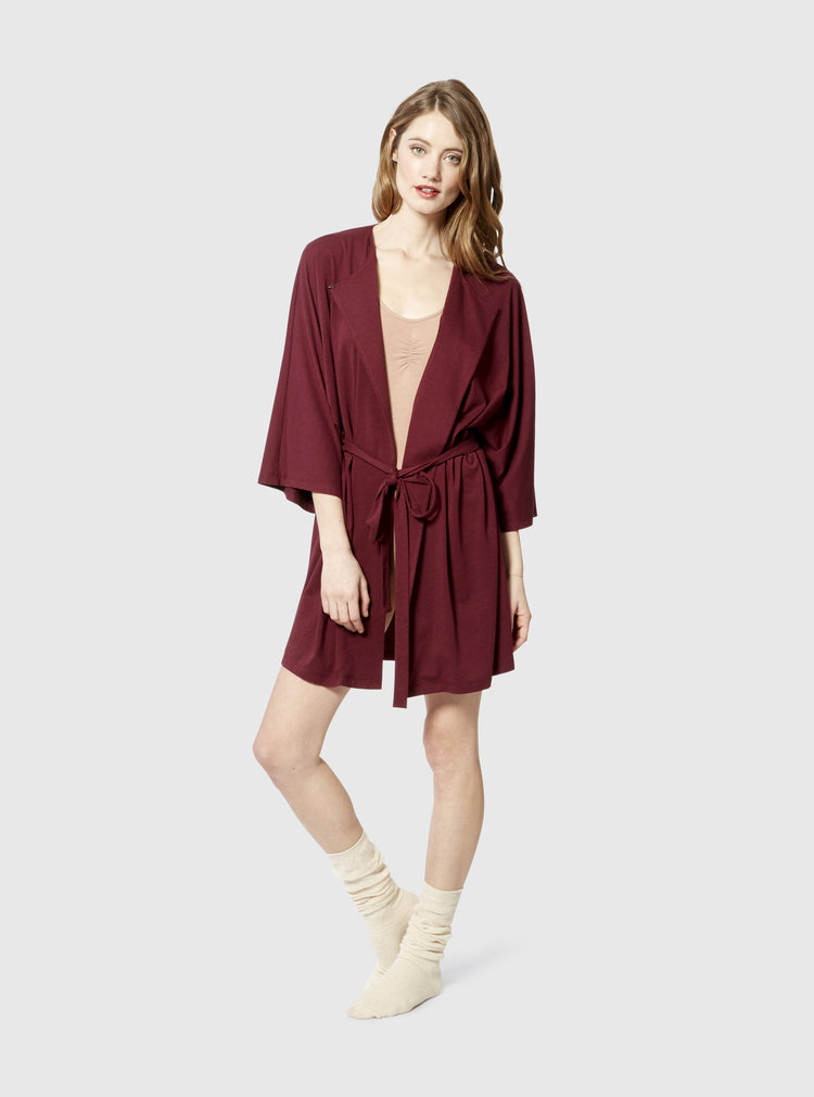 Seen paired with  the slip dress  as a nightgown underneath!