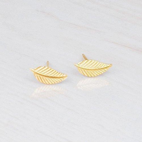 handmade gold leaf earrings
