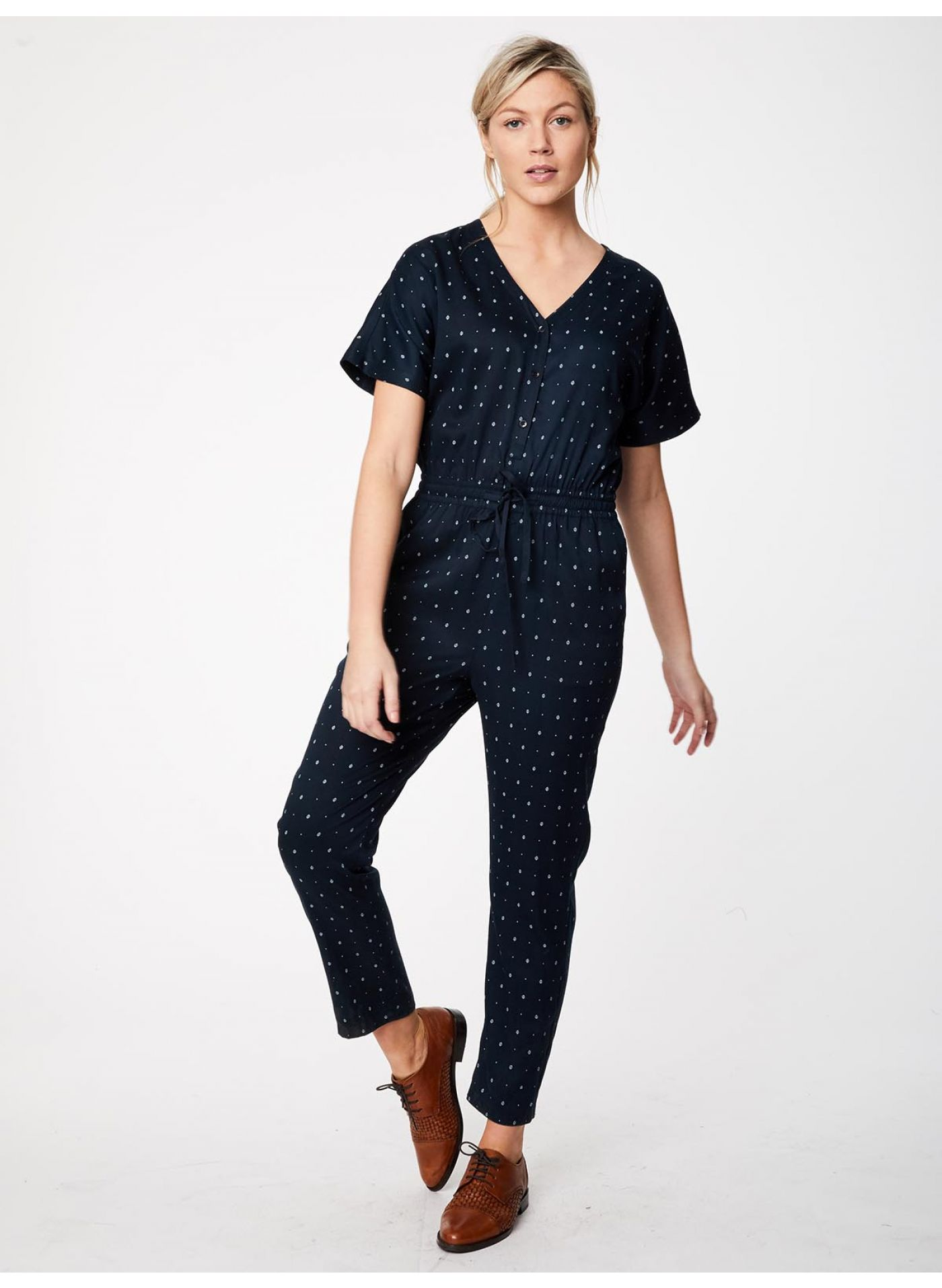 fall ethical jumpsuit thought