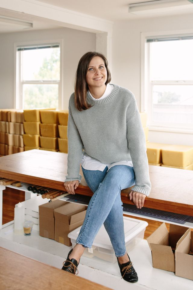 Toni Desrosiers, Founder of  Abeego , the original beeswax wrap company.