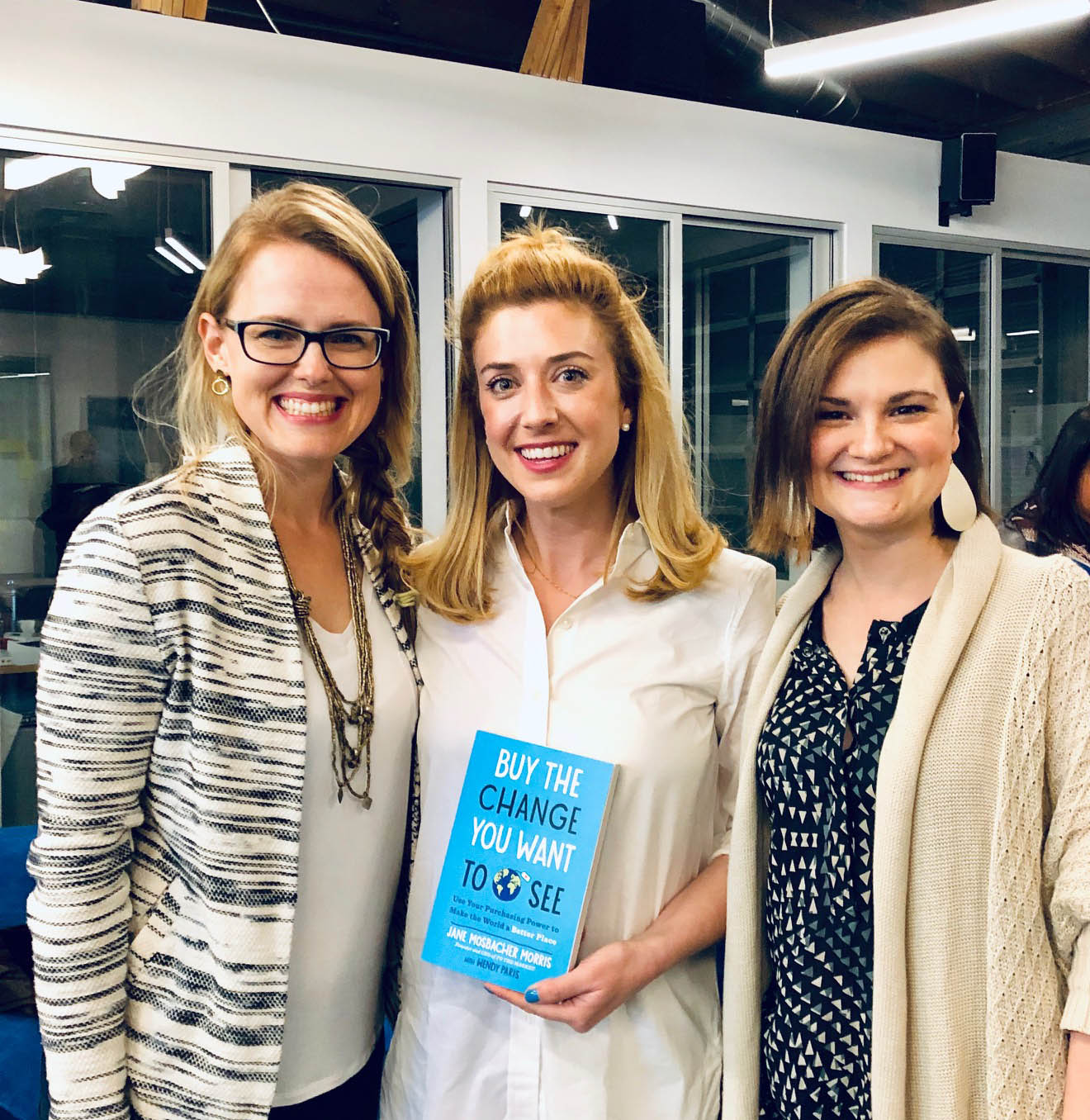 "Shown: (L to R) Heather Young, Jane Mosbacher Morris, and Jennifer Klotz. In her book,  ""Buy the Change You Want to See ,"" Jane Mosbacher Morris creates a vivid argument for just how powerful our purchasing power can be!  *This article may contain affiliate links. A small portion of your purchase helps support SHE."