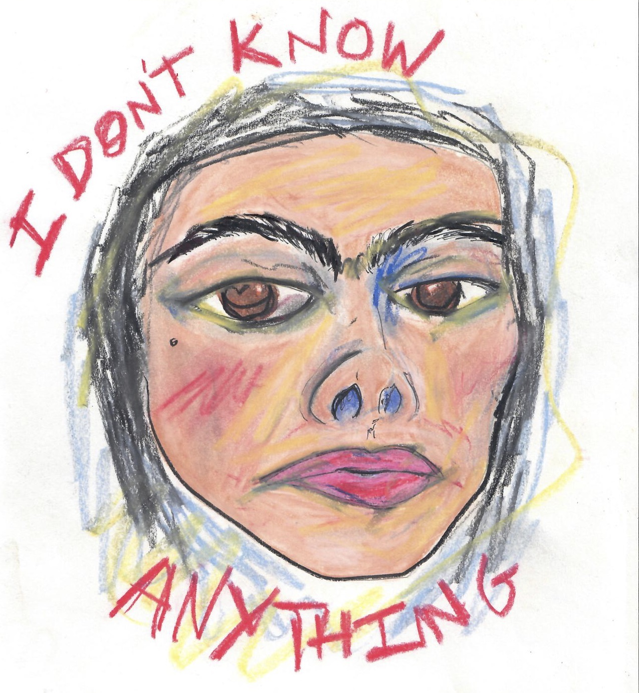 I Don't Know Anything - sticker, 2018